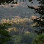 View of Copan from our restaurant across the valley.