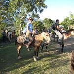 Paula on horseback.